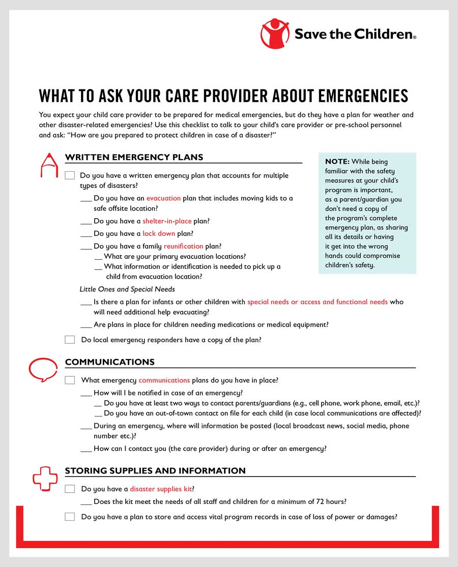 What To Ask Your Care Provider About Emergencies