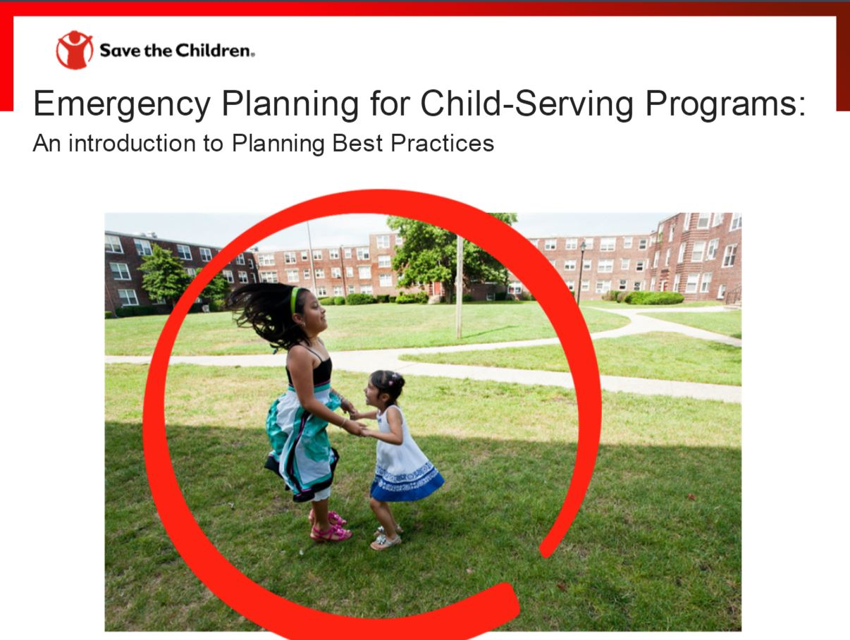 Planificación para Emergencias para Programas de Atención Infantil: Introducción a las  Mejores Prácticas en Planificación