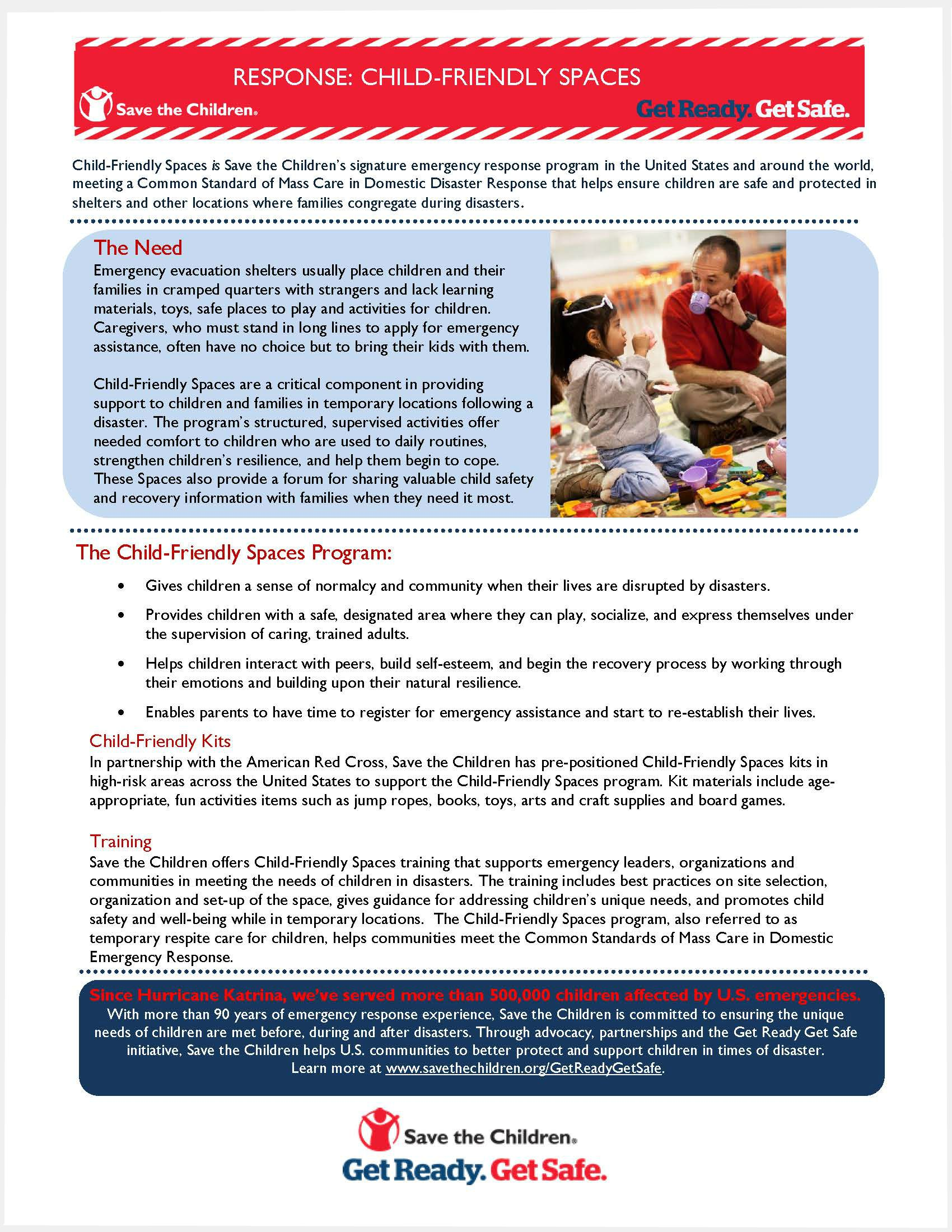 Child-Friendly Spaces Fact Sheet